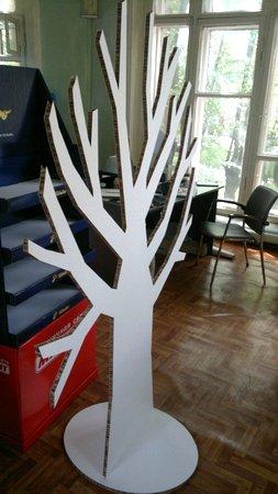 Большое дерево из бумаги своими руками 7